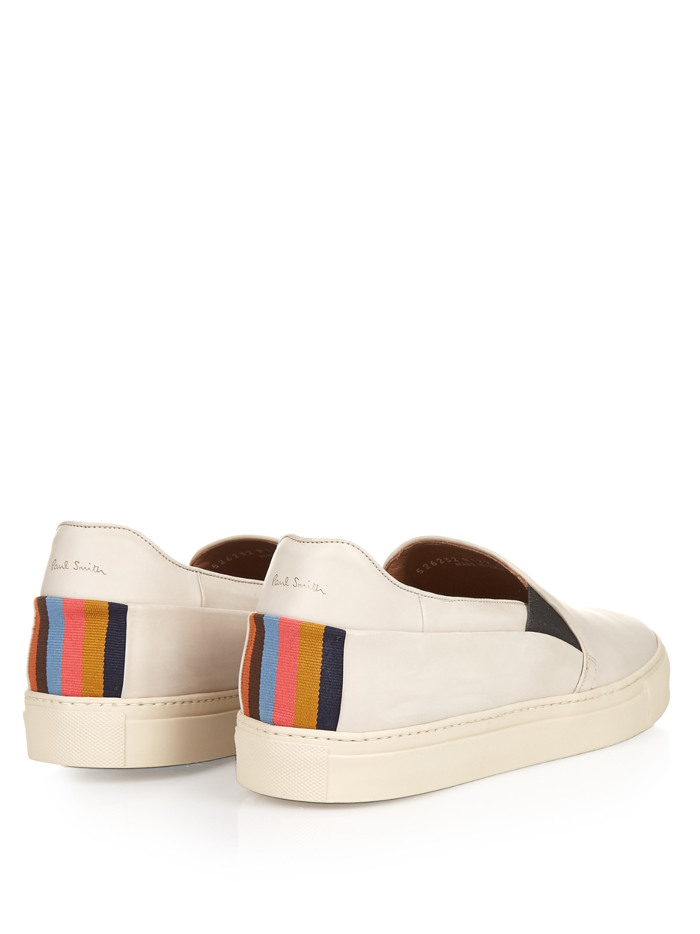 Lyst Paul Smith Zorn Slip On Leather Trainers In White