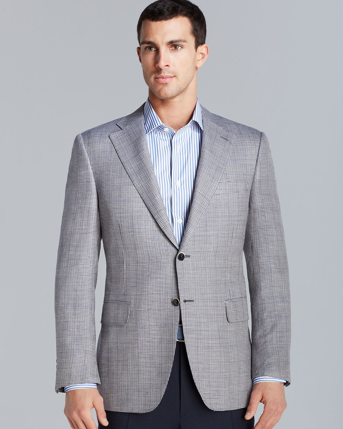 Canali Siena Twotone Houndstooth Sport Coat Regular Fit in Gray ...