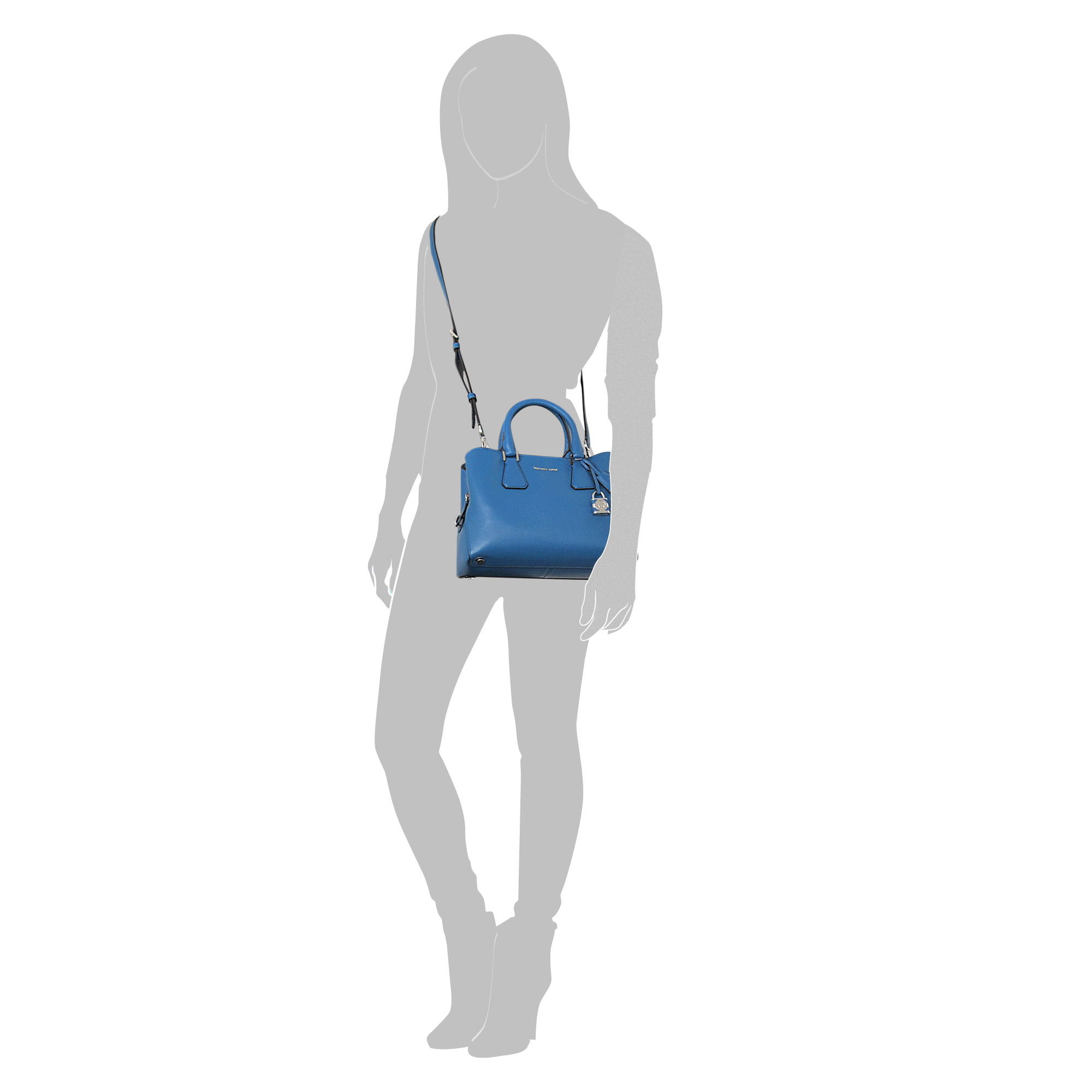 6dcf7585e8d5 Michael Kors Camille Large Leather Satchel, Ballet(Pink) Michael Michael  Kors Camille Medium Satchel in Blue - Lyst ...