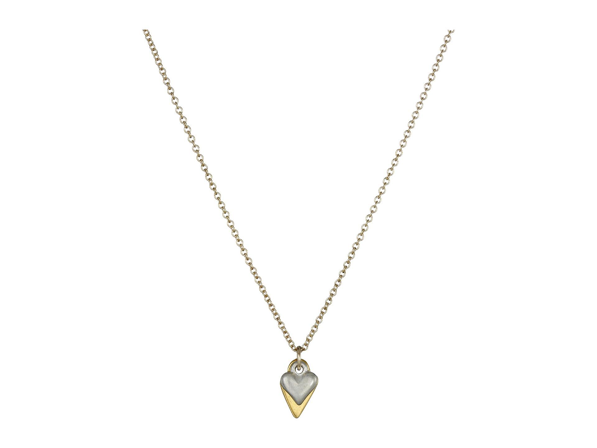 Lyst - Dogeared Sister Love Petite Heart W/ Cupid Heart Necklace in ...