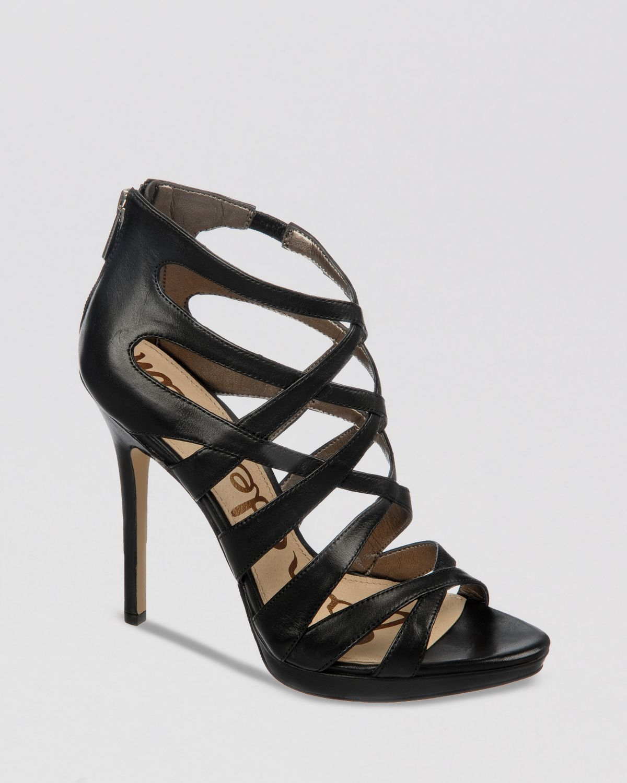 3e99225ed Lyst - Sam Edelman Peep Toe Platform Evening Sandals Ella High Heel ...