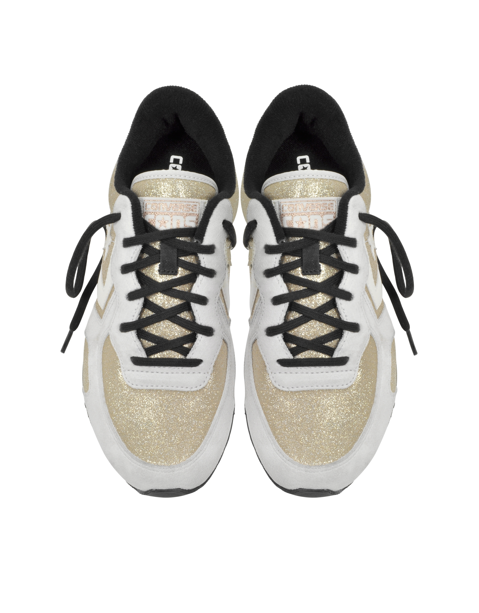 cd490c3fde91 Lyst - Converse Auckland Racer Ox Gold Glam Fabric And Suede Sneaker ...