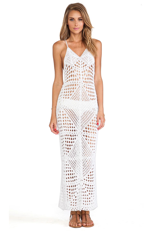Crochet Maxi Dress : Indah Syra Crochet Maxi Dress in White Lyst