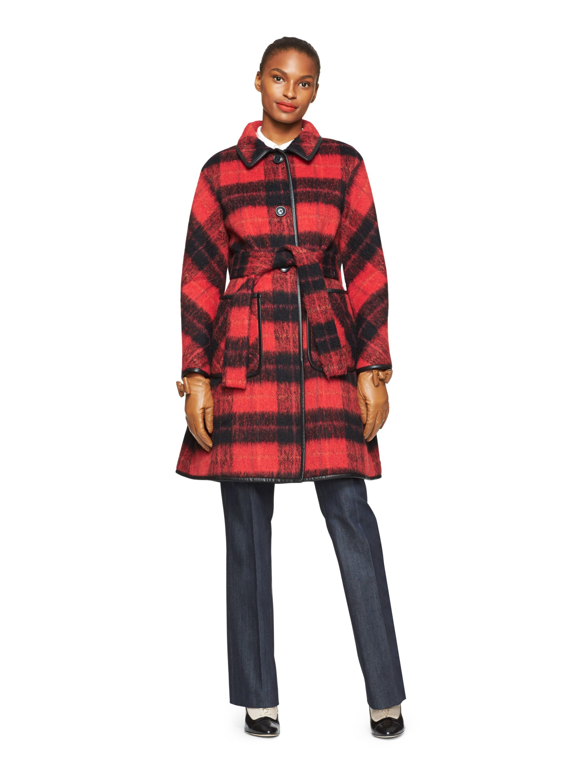 Red Check Coat Sm Coats