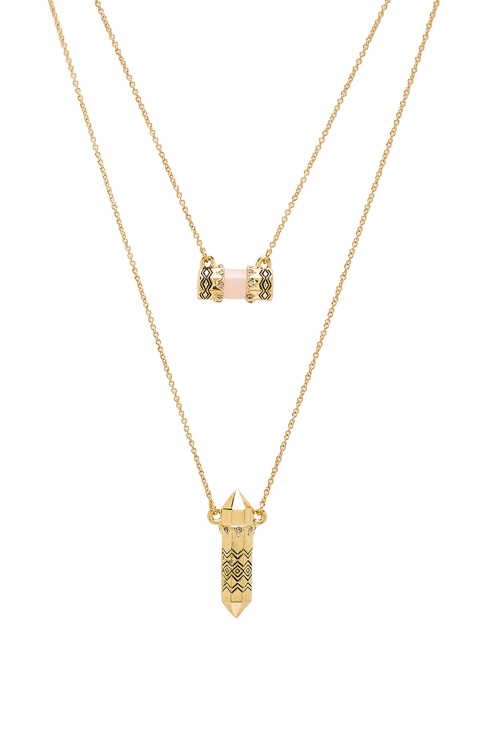 Lyst house of harlow 1960 house of harlow prana double pendant gallery mozeypictures Gallery