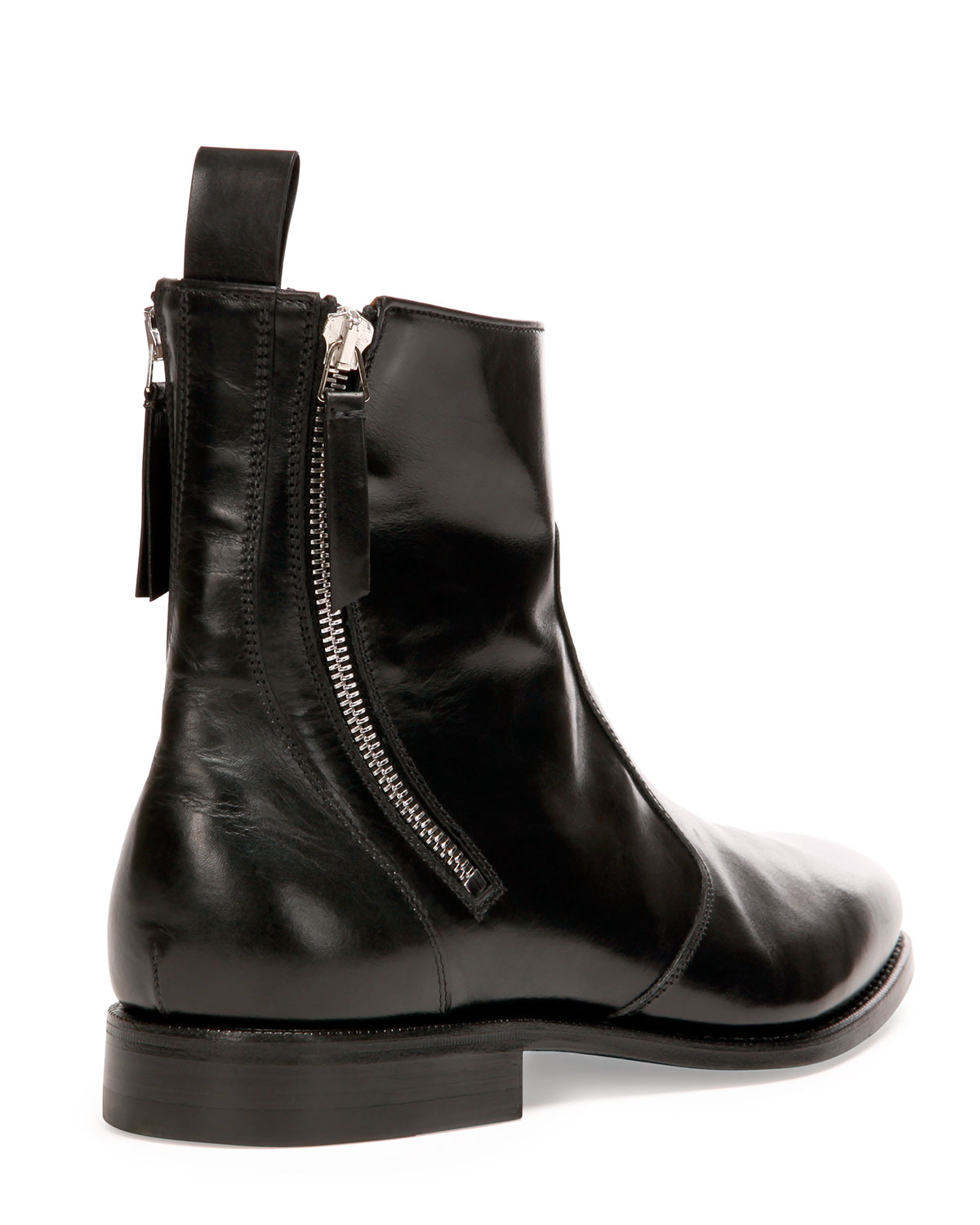 Givenchy Leather Zip Boots 0DZNp
