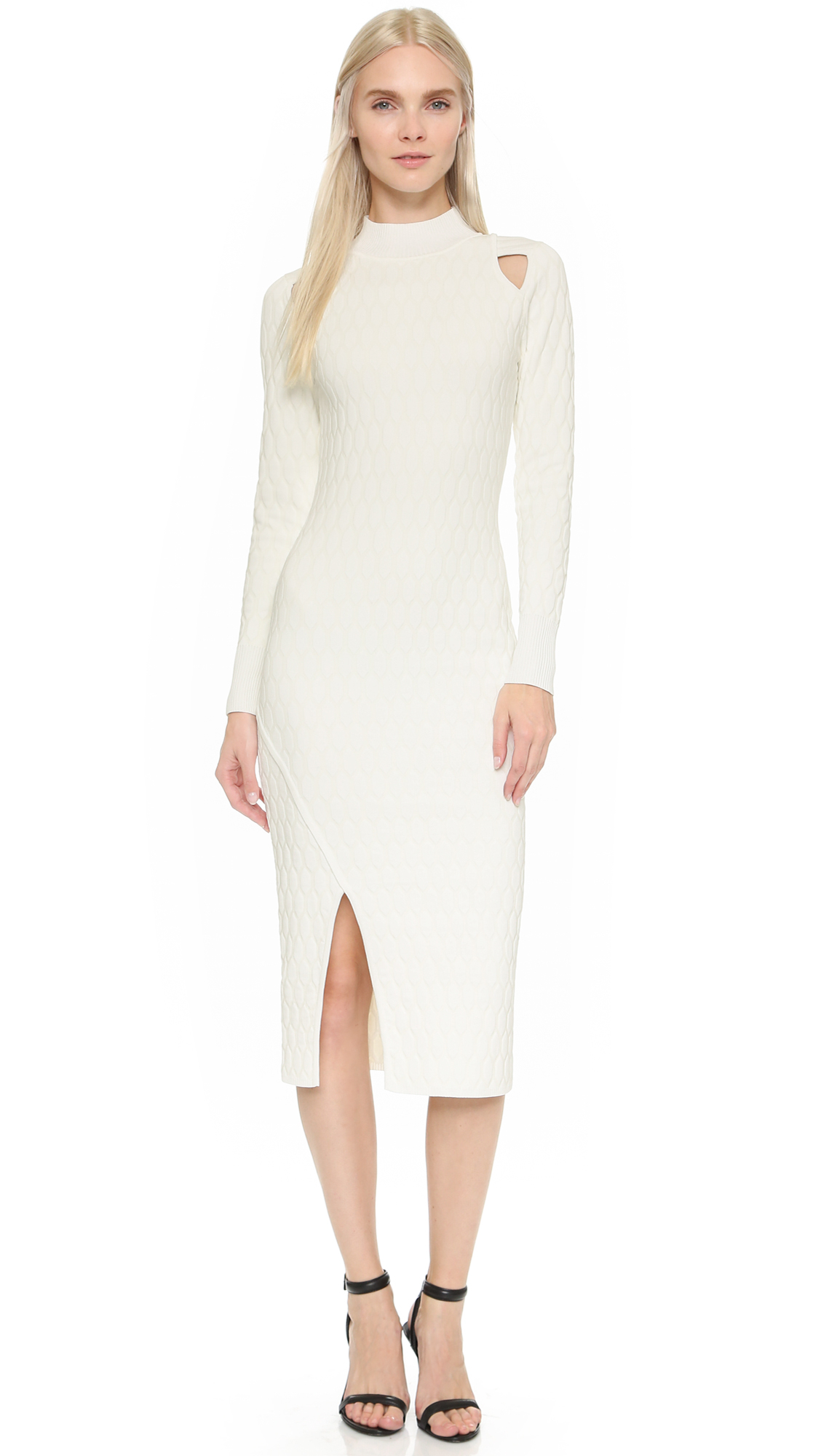 Jonathan simkhai Turtleneck Dress - Ivory in White | Lyst