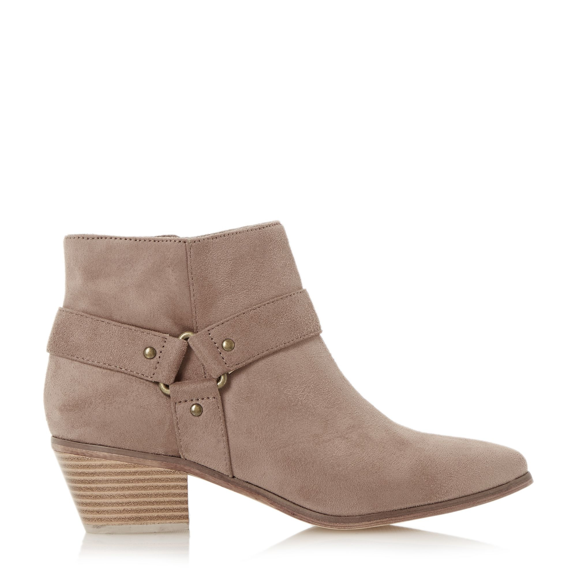 dune penley pointed side detail ankle boots in brown lyst
