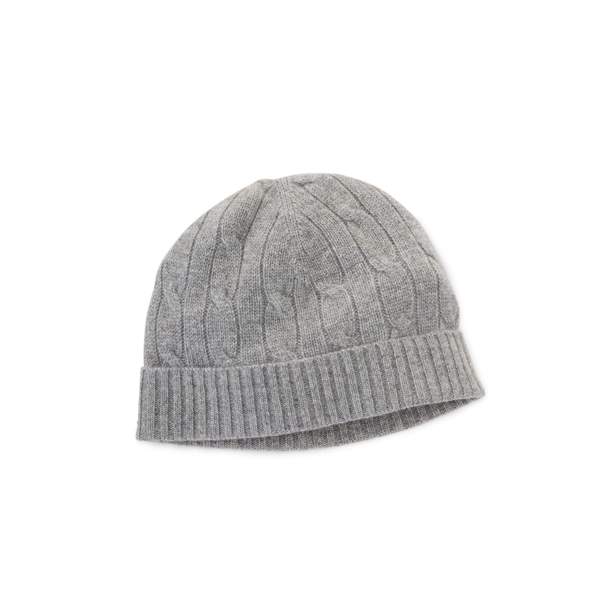 Lyst - Ralph Lauren Cable-knit Cashmere Beanie in Gray d059f4907ef
