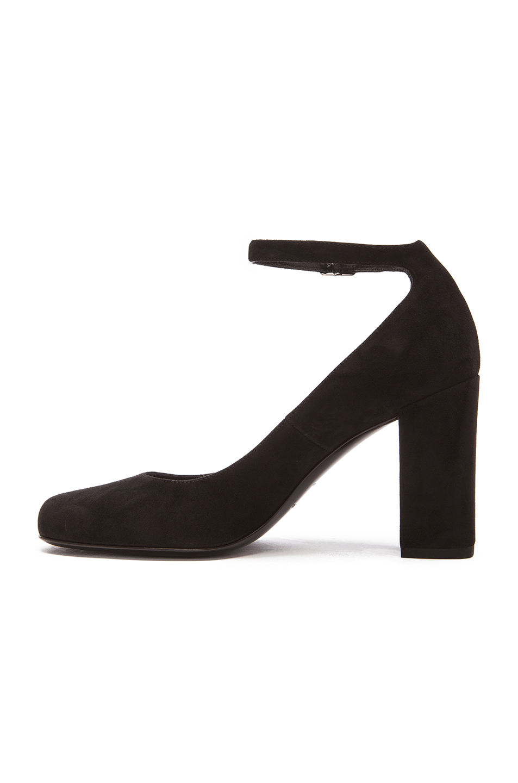 Black Strap Ankle Heels