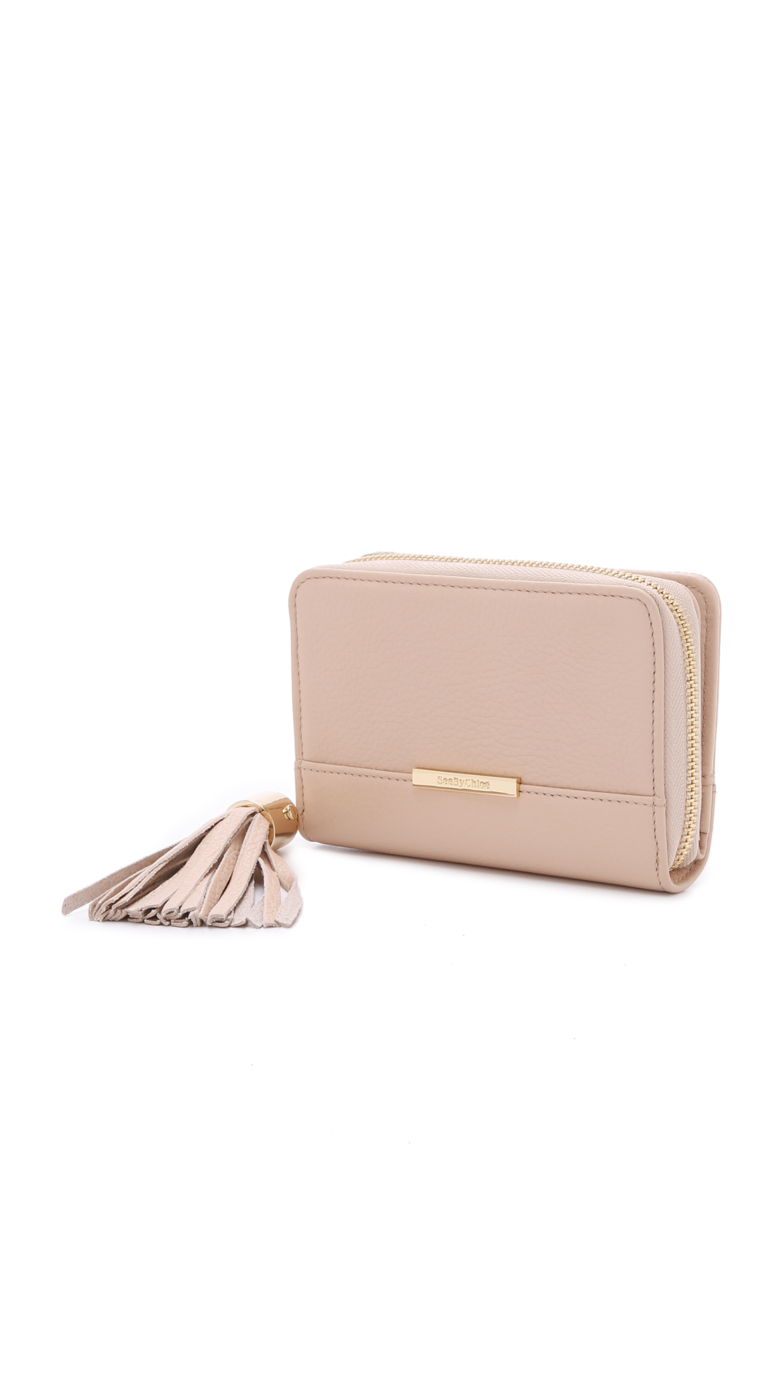chole handbags - See by chlo�� Vicki Small Wallet - Plum in Beige (Nude) | Lyst