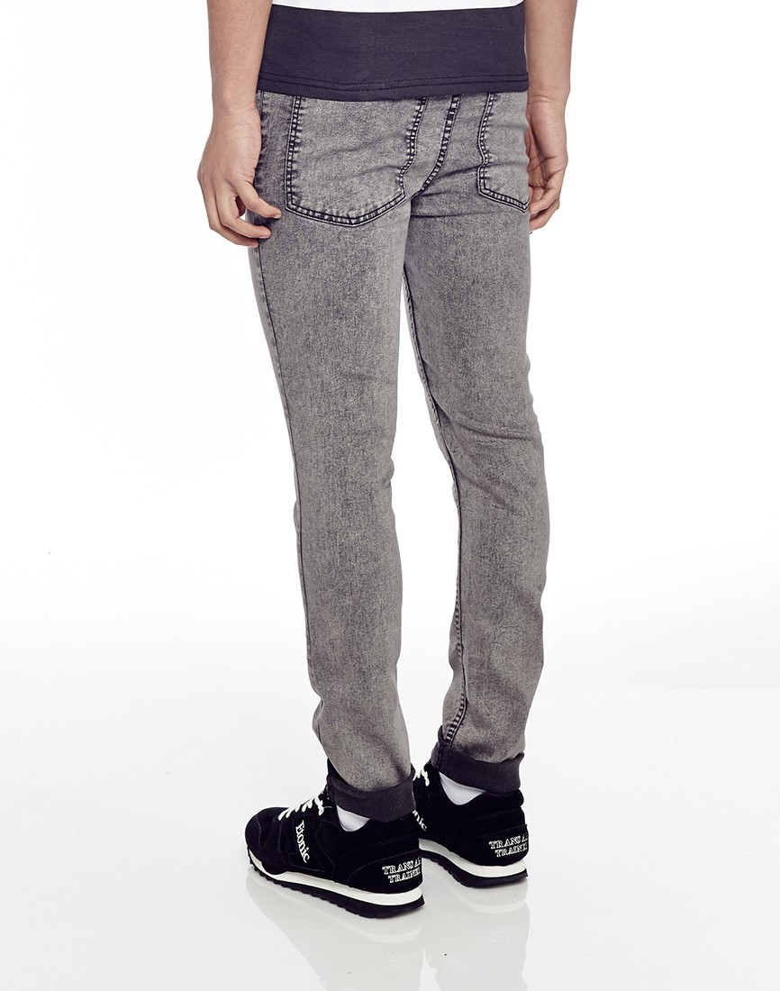 cheap monday tight jeans grey black in skinny fit in gray. Black Bedroom Furniture Sets. Home Design Ideas