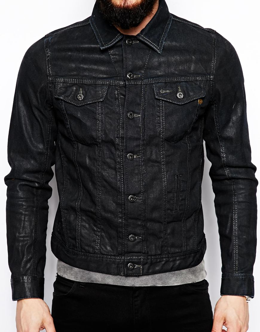 Diesel Denim Jacket in Black for Men | Lyst