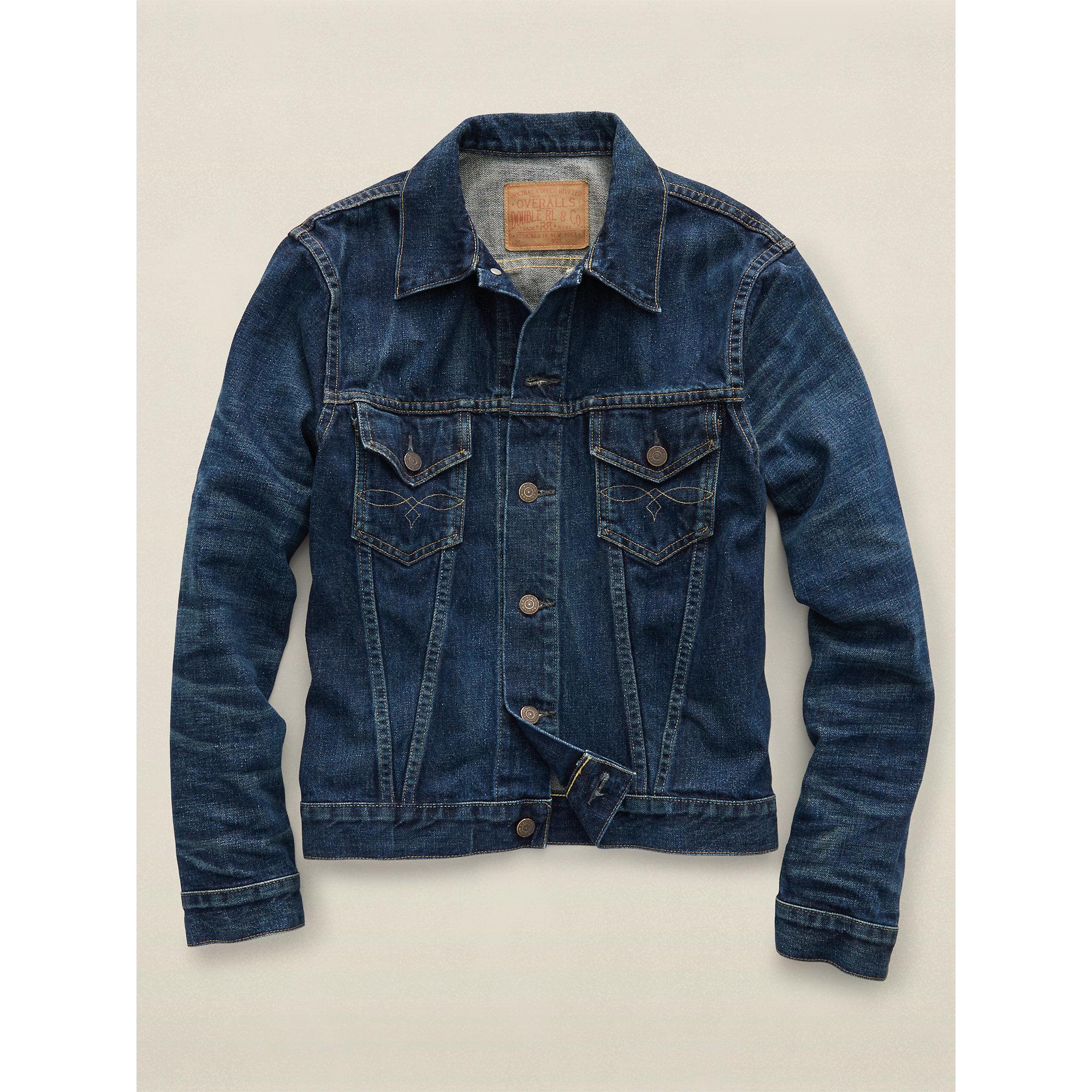 Rrl Washed Denim Jacket in Blue for Men | Lyst