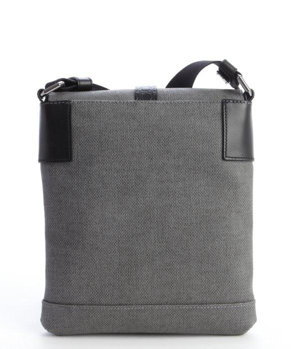 f3ab3dfed5c6 Lyst - Ferragamo Grey Coated Canvas Map Case Tall Messenger Bag in ...
