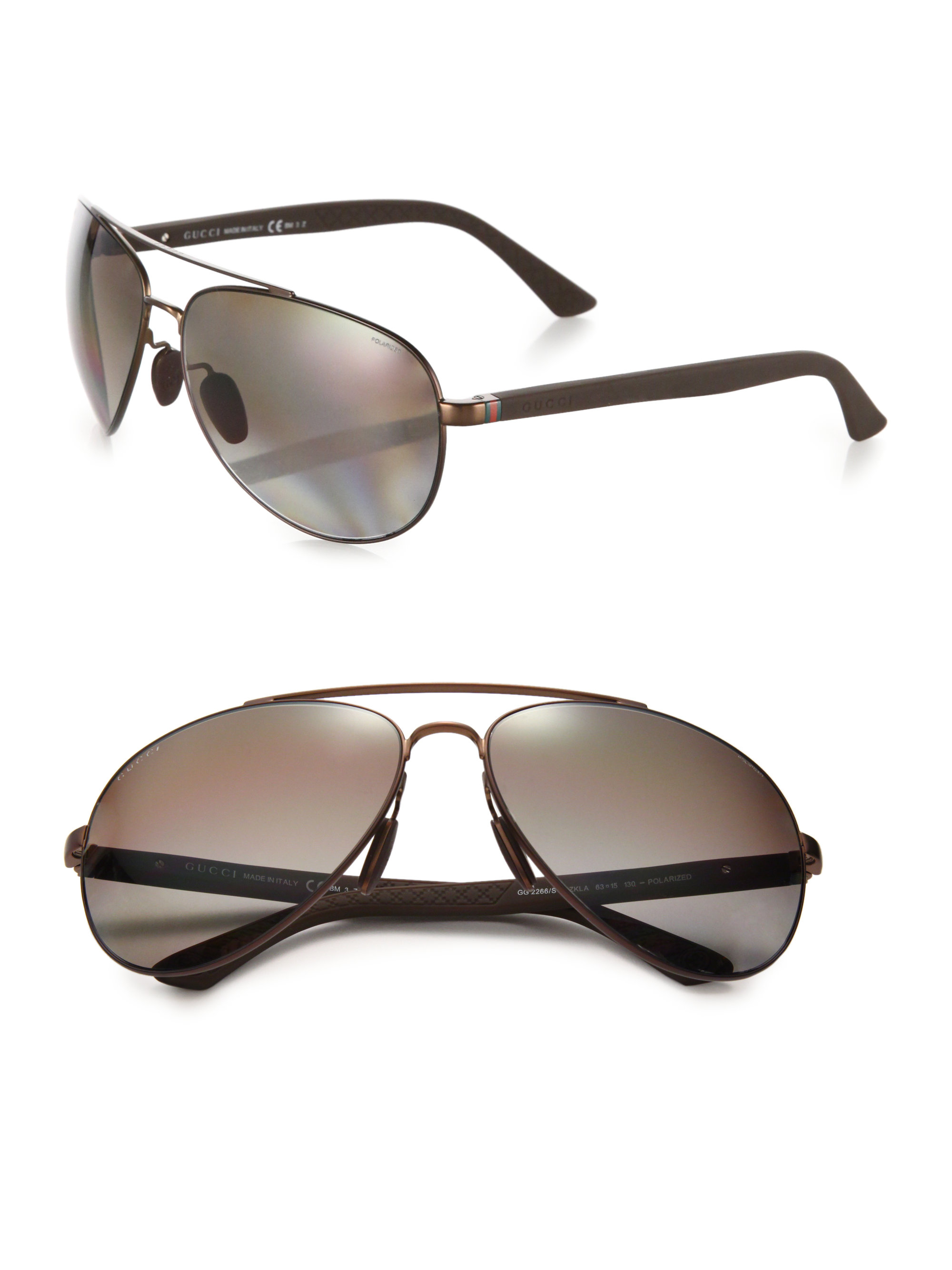 c68cd8ffb69 Gucci Metal 63mm Aviator Sunglasses « Heritage Malta