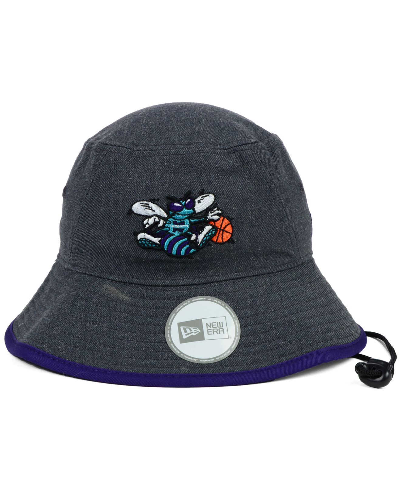 7c721cce0ff Lyst - KTZ Charlotte Hornets Dark Heather Tipped Bucket Hat in Gray ...