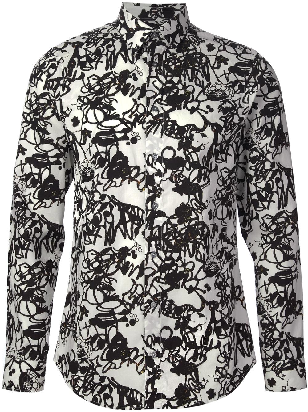 Mens black floral print dress shirt rldm mens black floral print dress shirt mightylinksfo