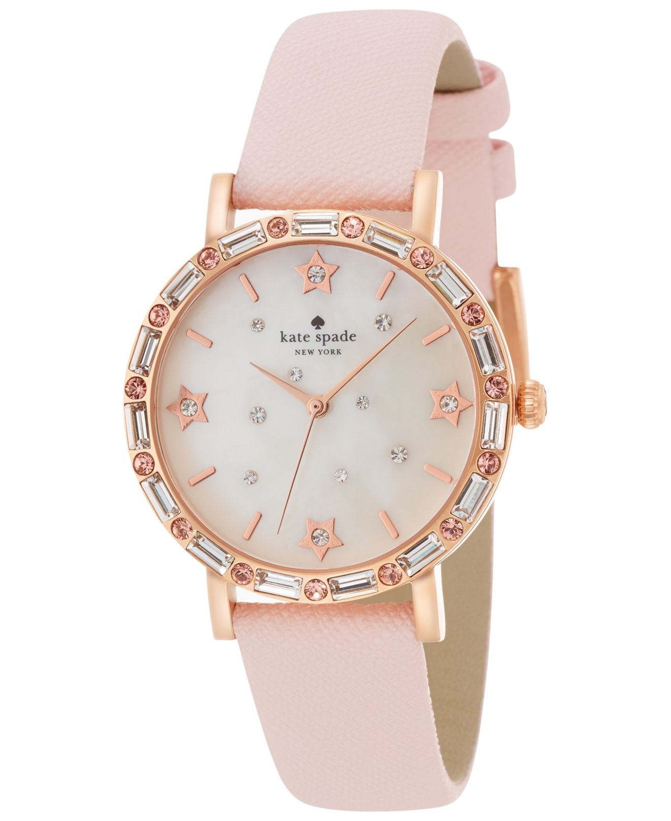 with and watches dial pink york new metal ladies quartz movement caravelle bracelet crystal watch rose womens chronograph