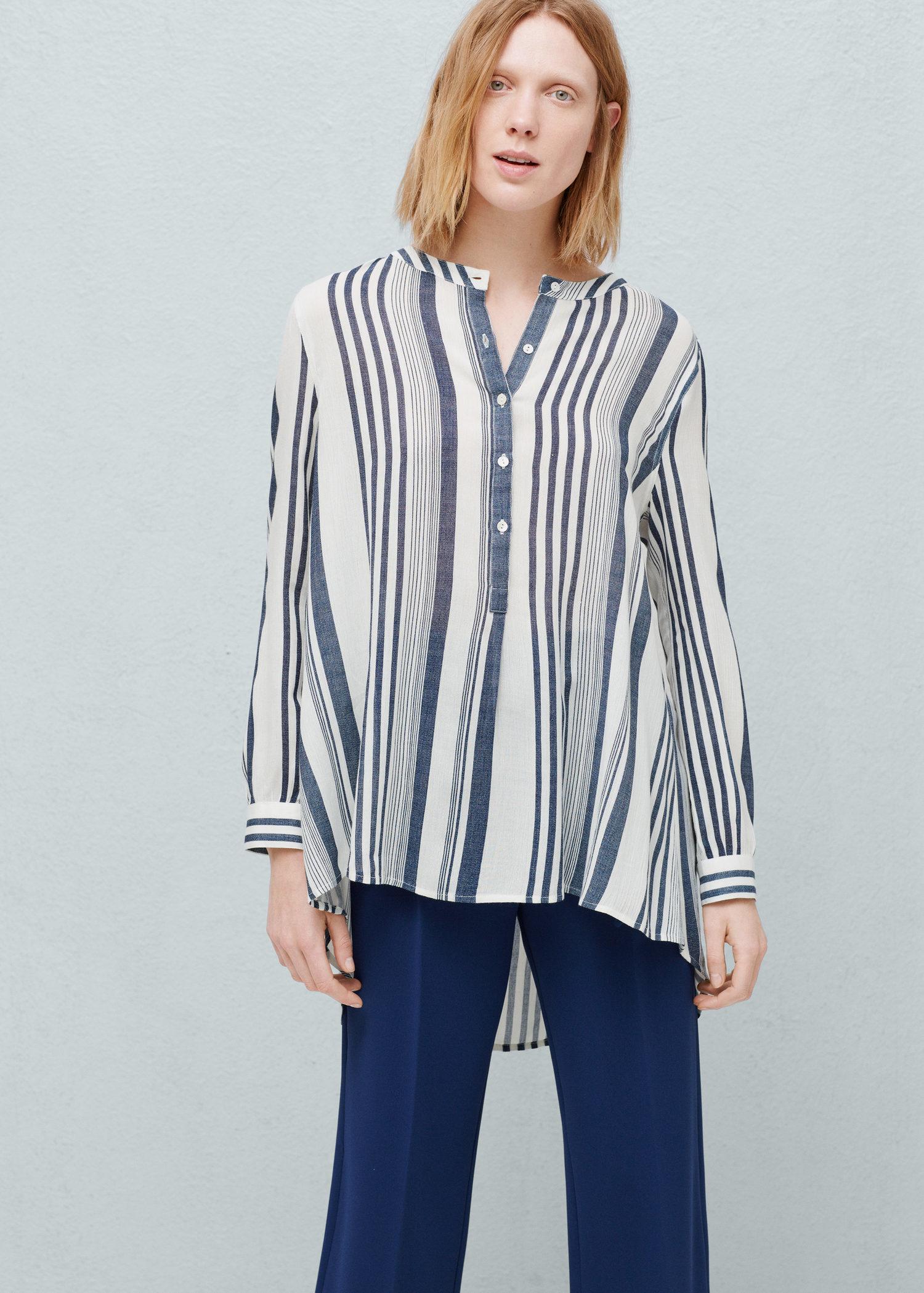 540c3d5232 Mango Striped Shirt in Blue - Lyst