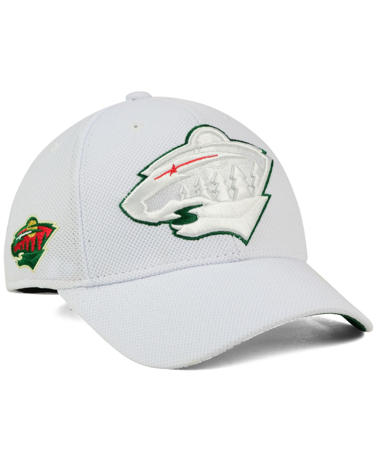 huge selection of 01433 cf711 ... italy lyst reebok minnesota wild 2nd season flex cap in white for men  17a10 4581e