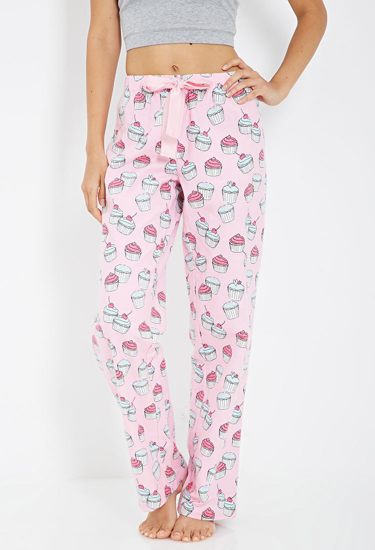 Forever 21 Cupcake Print Flannel Pj Pants in Pink | Lyst