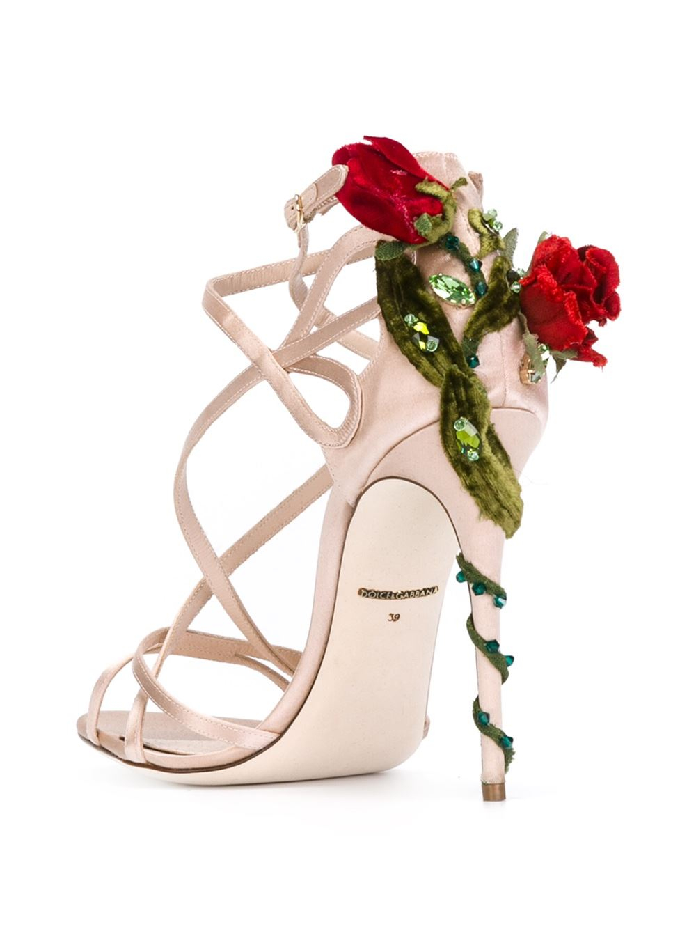 Lyst Dolce Amp Gabbana Climbing Rose Sandals
