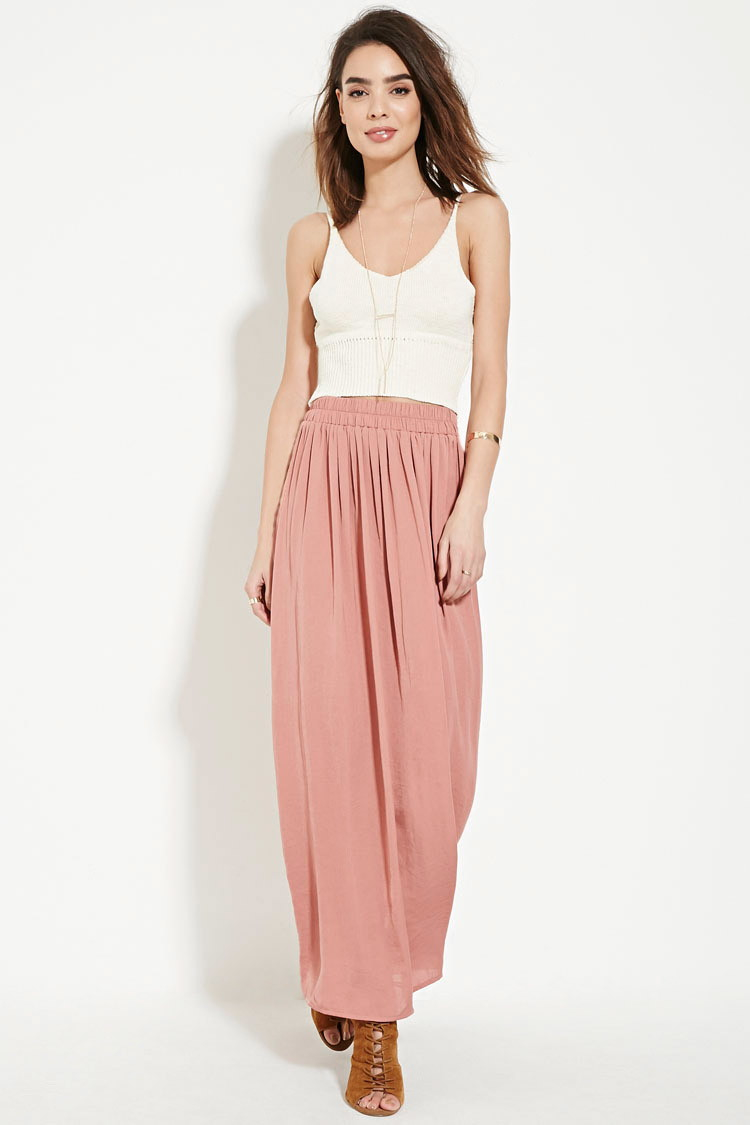 Forever 21 contemporary satin maxi dress