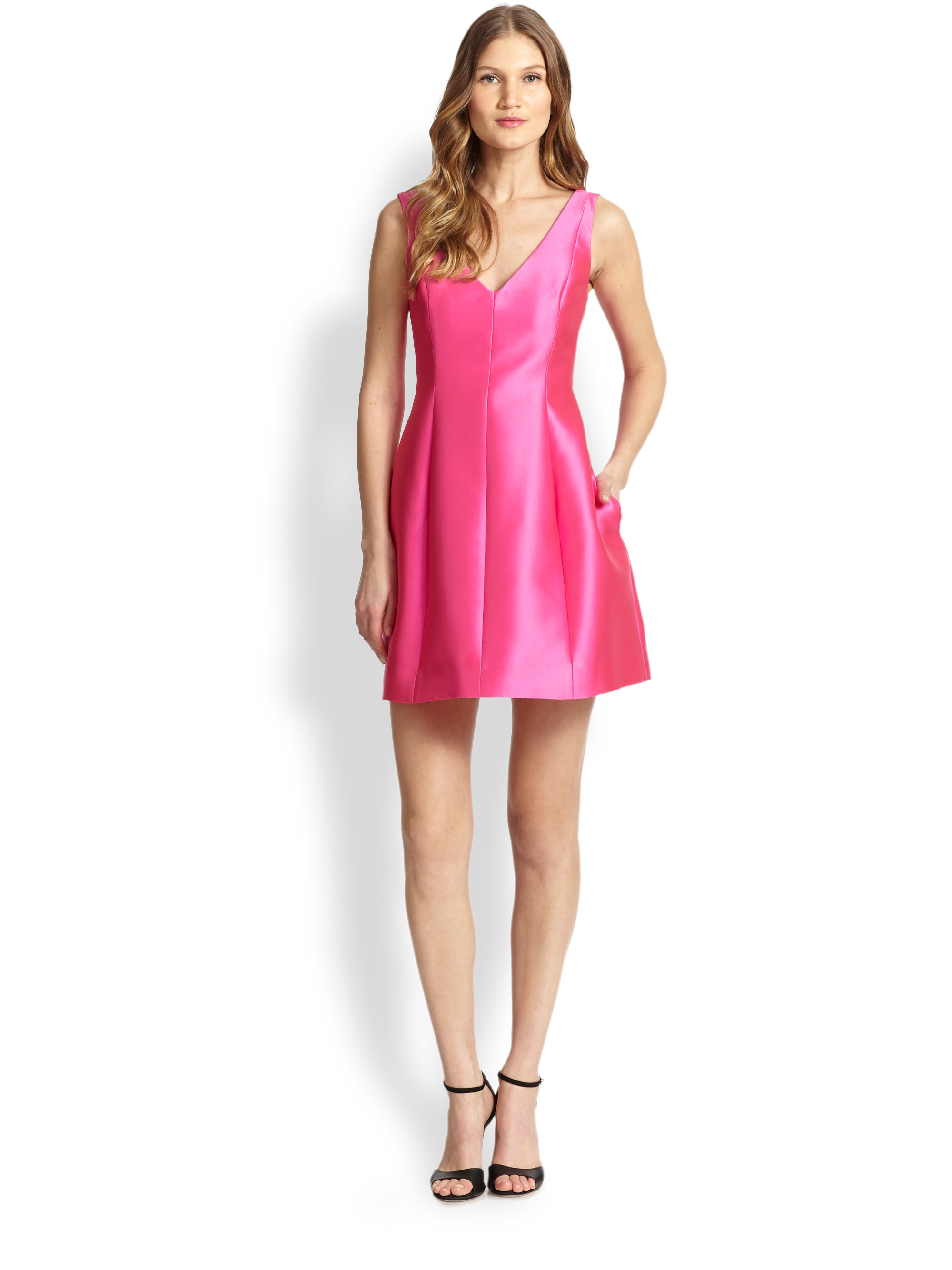 Kate Spade Structured Mini Dress In Pink Lyst