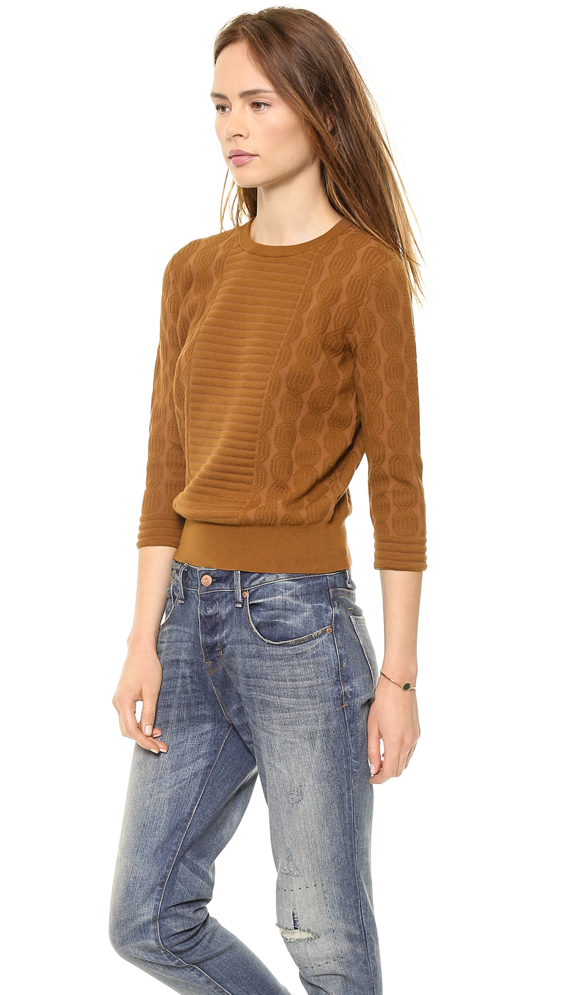 marc by marc jacobs lucinda sweater spice cake in brown lyst. Black Bedroom Furniture Sets. Home Design Ideas