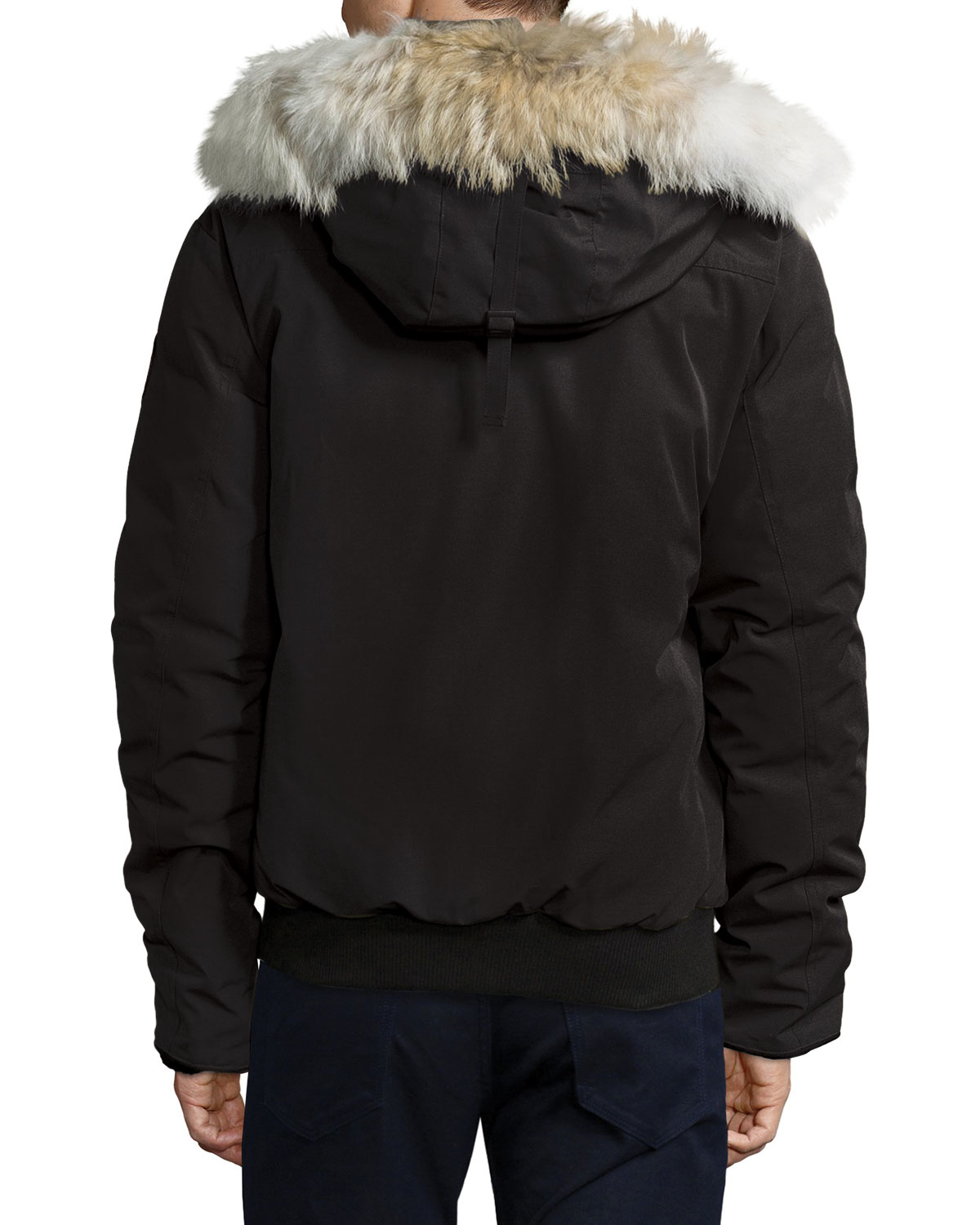 canada goose borden bomber jacket with fur lined hood in. Black Bedroom Furniture Sets. Home Design Ideas