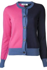 Jil Sander Cashmere Color Blocked Cardigan - Lyst