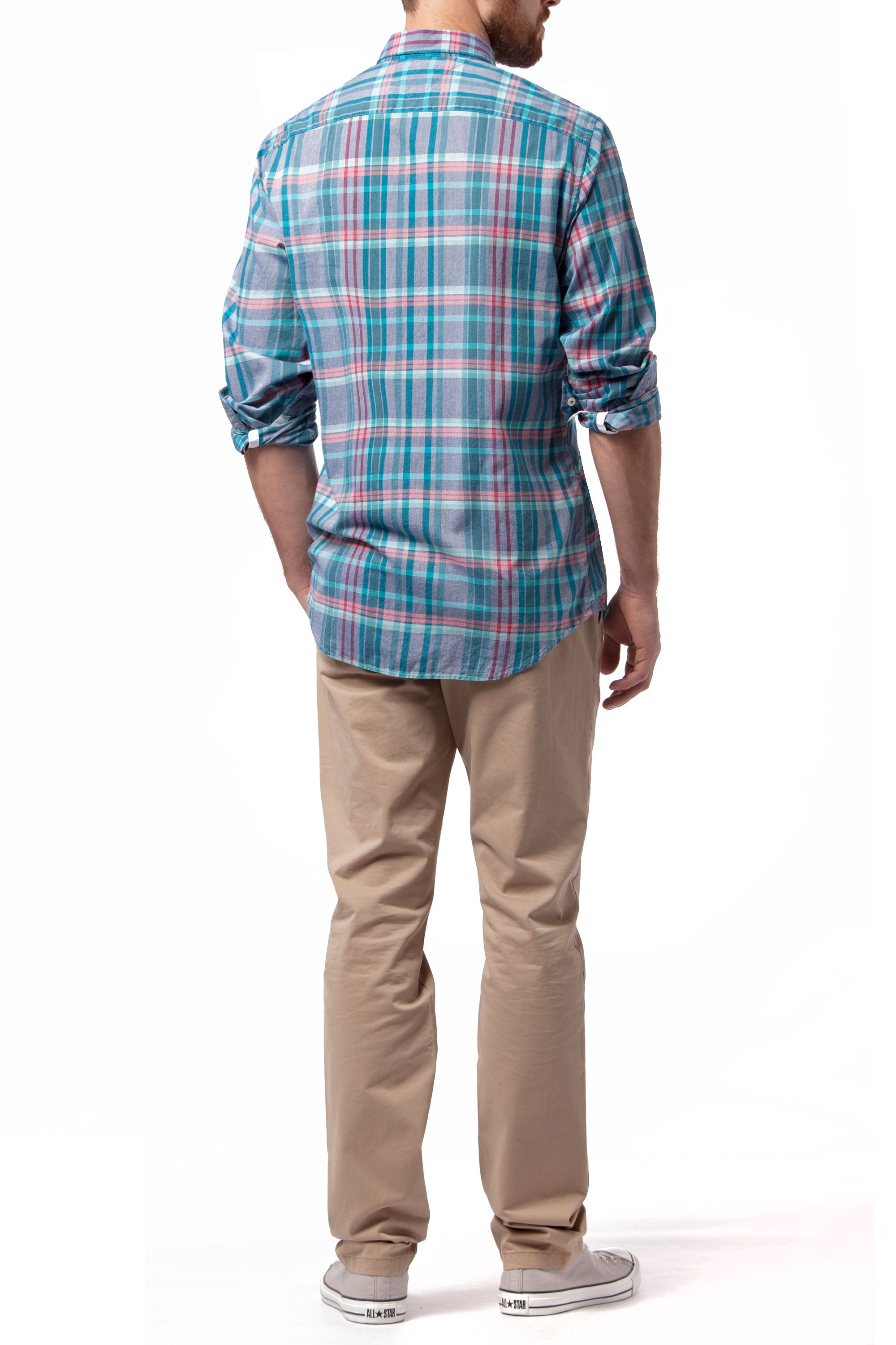 Tommy Hilfiger Emery Check Classic Fit Shirt In Blue For