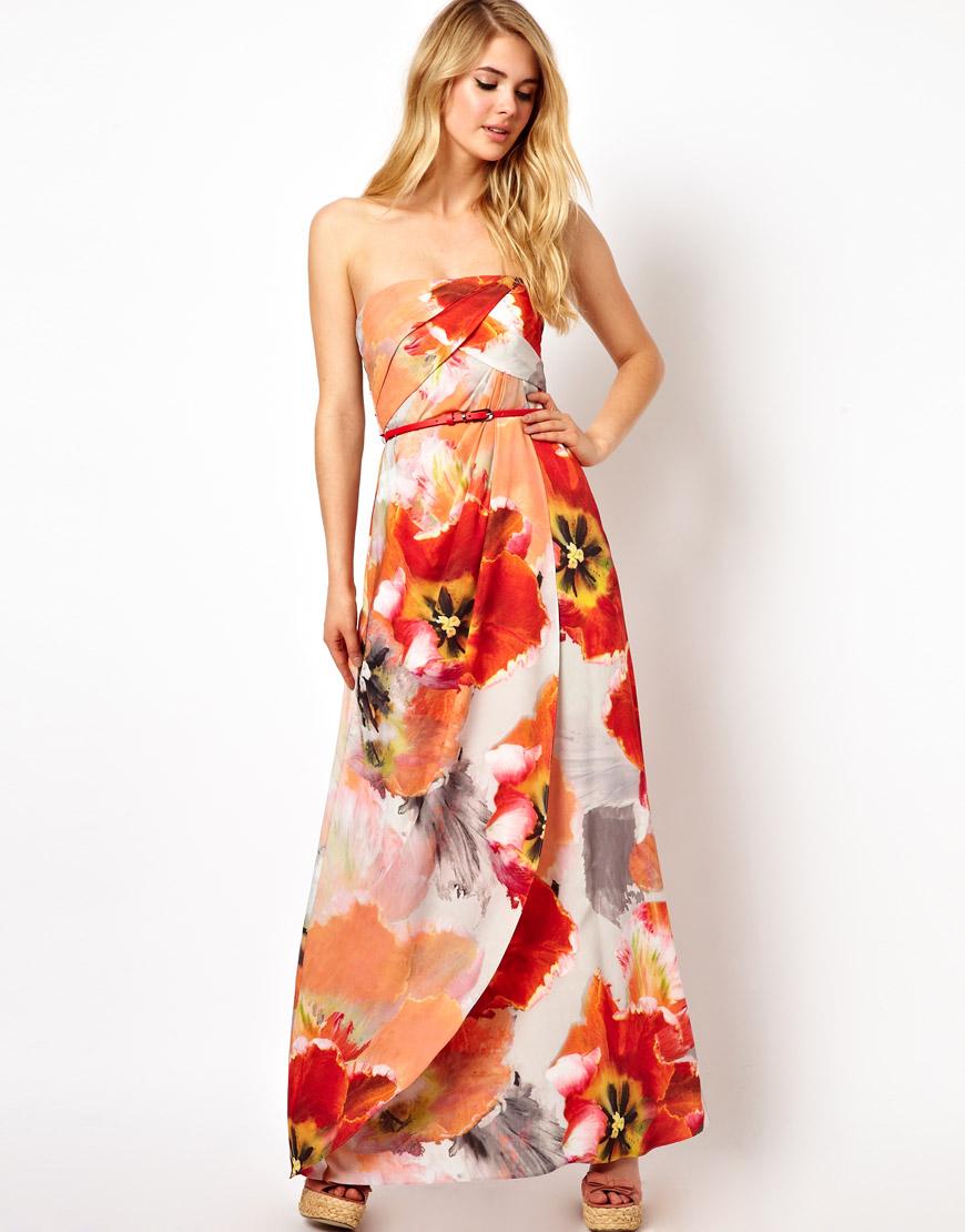 Coast Capparelle Sorrento Print Maxi Dress in Orange | Lyst