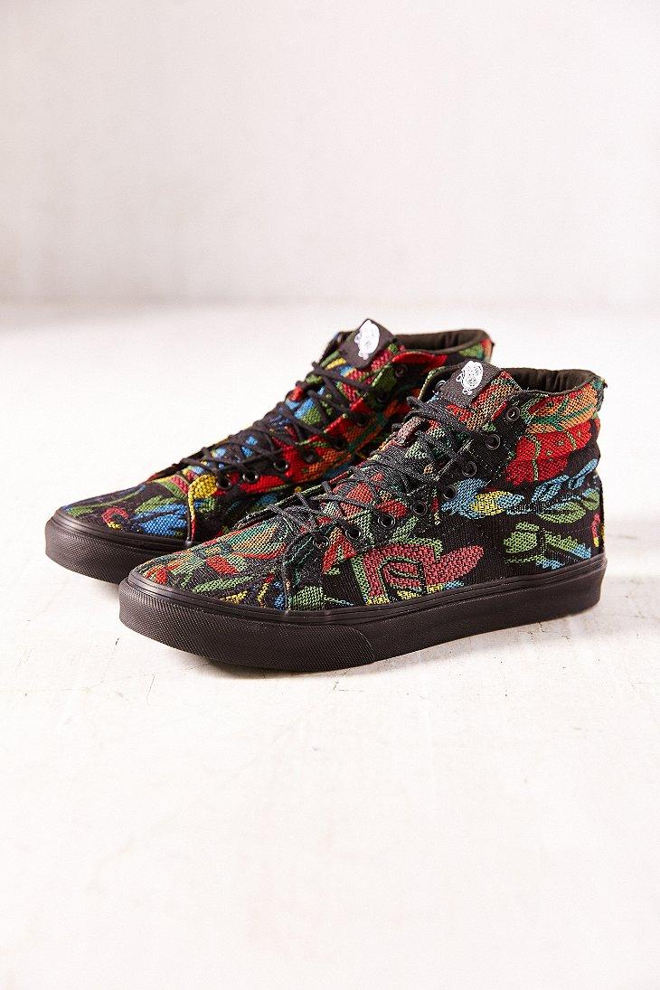 Lyst - Vans Floral Tapestry Sk8hi Slim Sneaker 06eaef09eeb0
