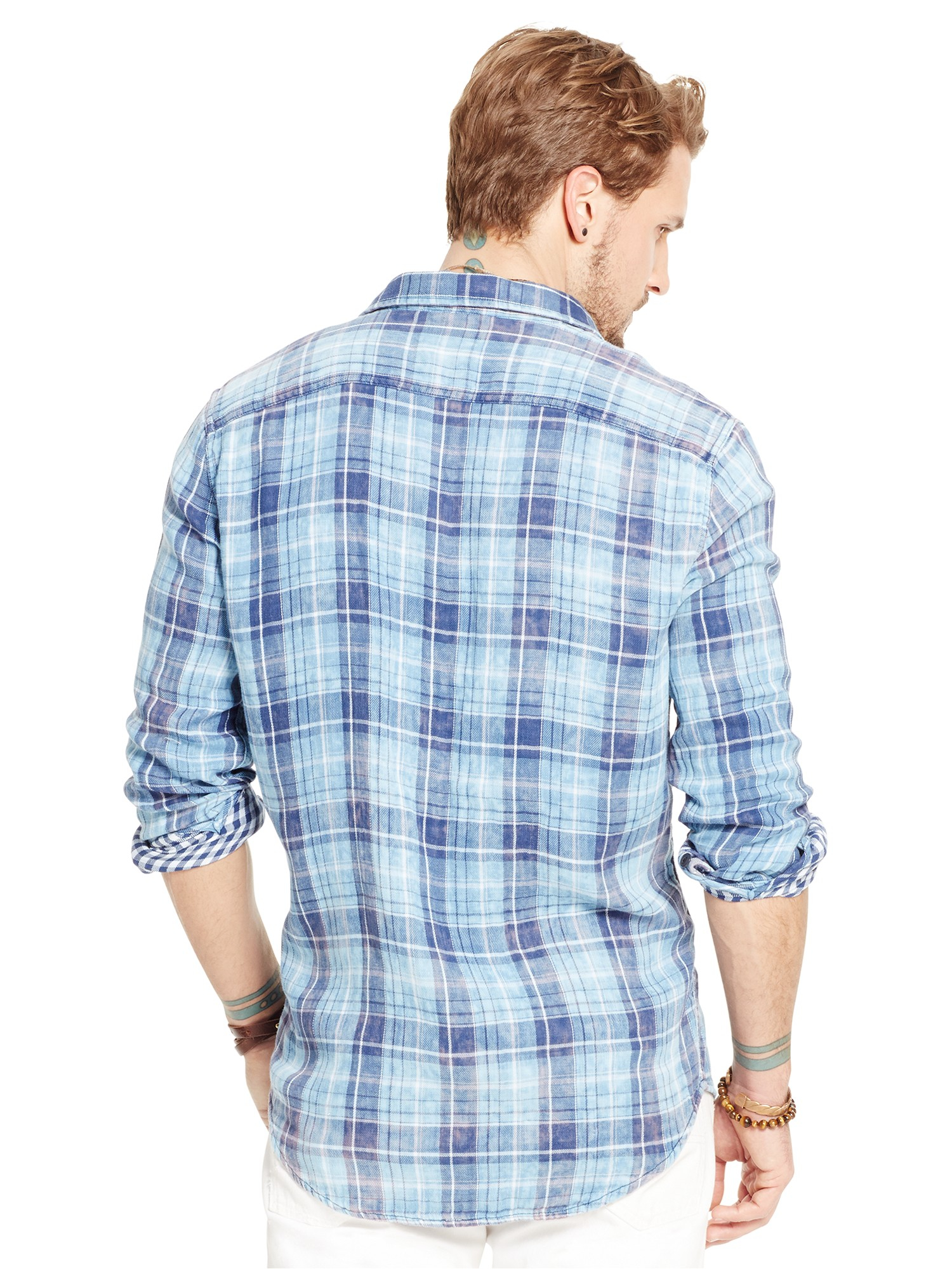 c8f7e14ec Denim   Supply Ralph Lauren Ward Check Shirt in Blue for Men - Lyst