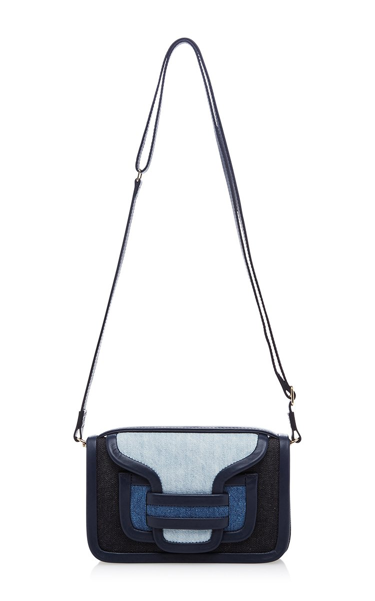 Rally Handbag in Blue Suede and Denim Pierre Hardy oXp5LJcbaP