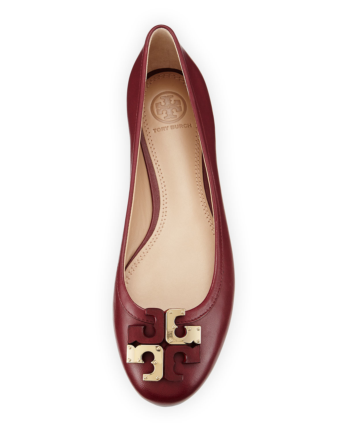 d664c475f4b810 ... shopping lyst tory burch lowell leather ballet flats in red 92693 ebff4