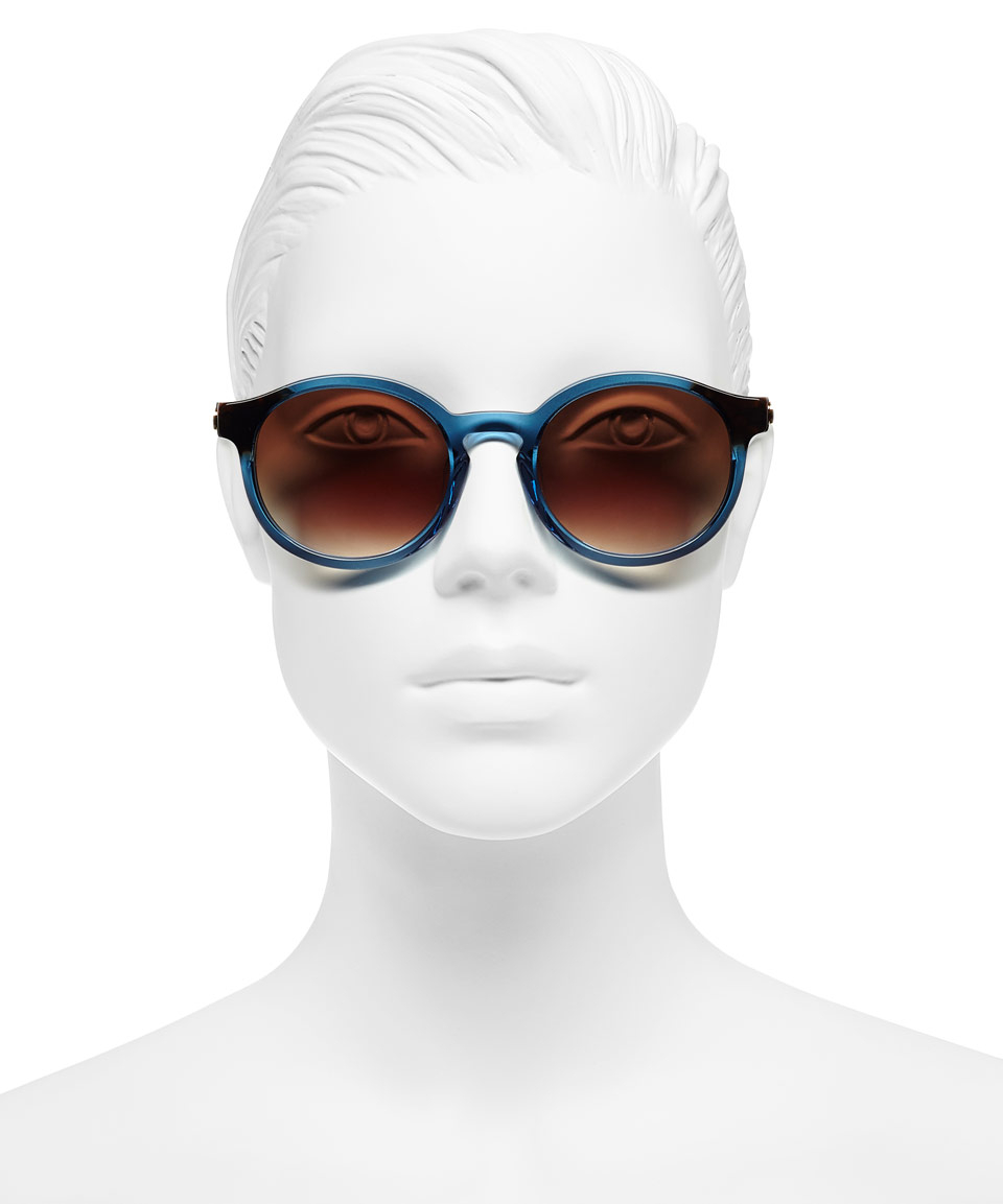 9d2003b30df Thierry Lasry Blue Silently Round Sunglasses in Blue for Men - Lyst