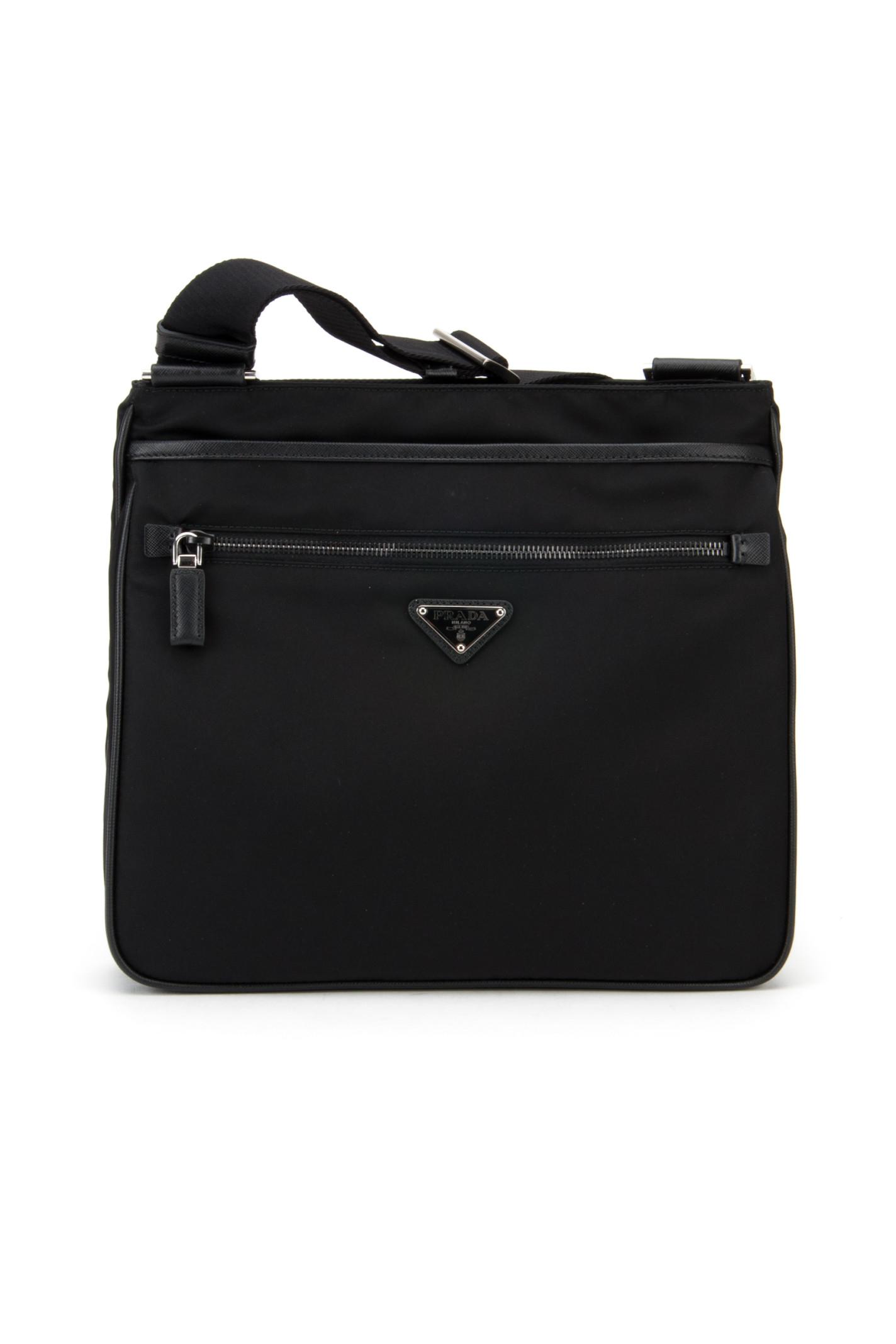 ba00f1f6ee70 Prada Borsa Viaggio Tessuto+saffiano in Black for Men (NERO)