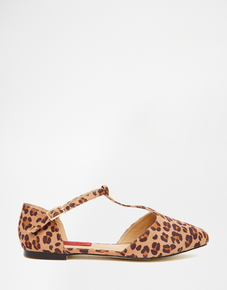 Londres Mary Rebelle Chaussure Plate Boucle Léopard Jane - Léopard Mf / Or d6JexJE