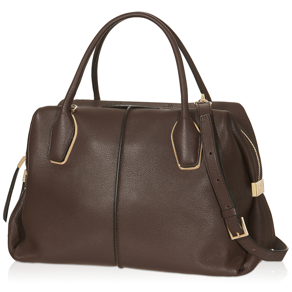 tod s medium d bow bag in brown lyst