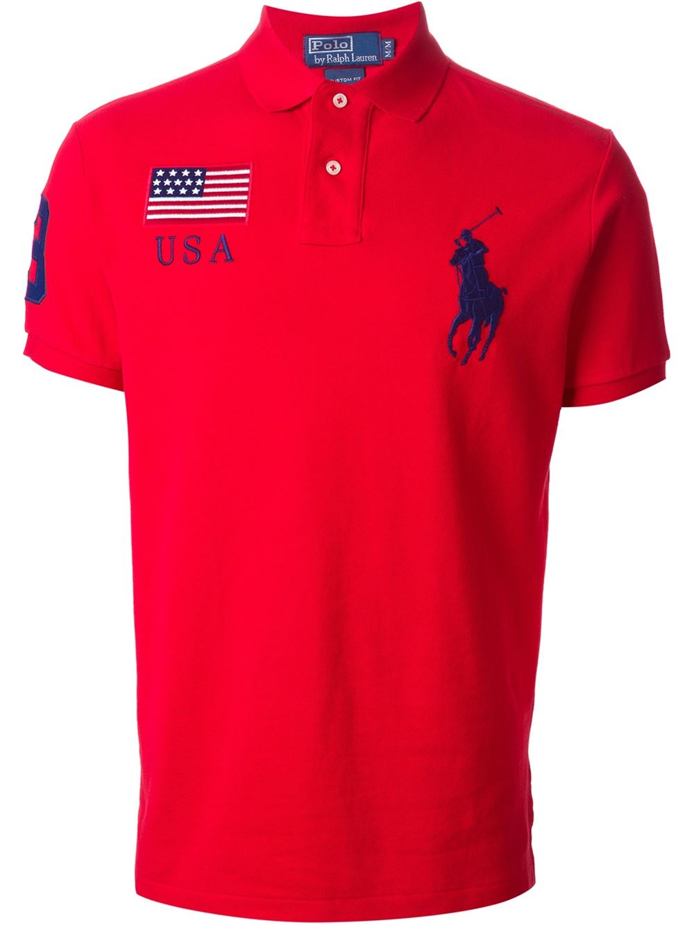 Polo Ralph Lauren Big Logo Embroidered Polo Shirt In Red