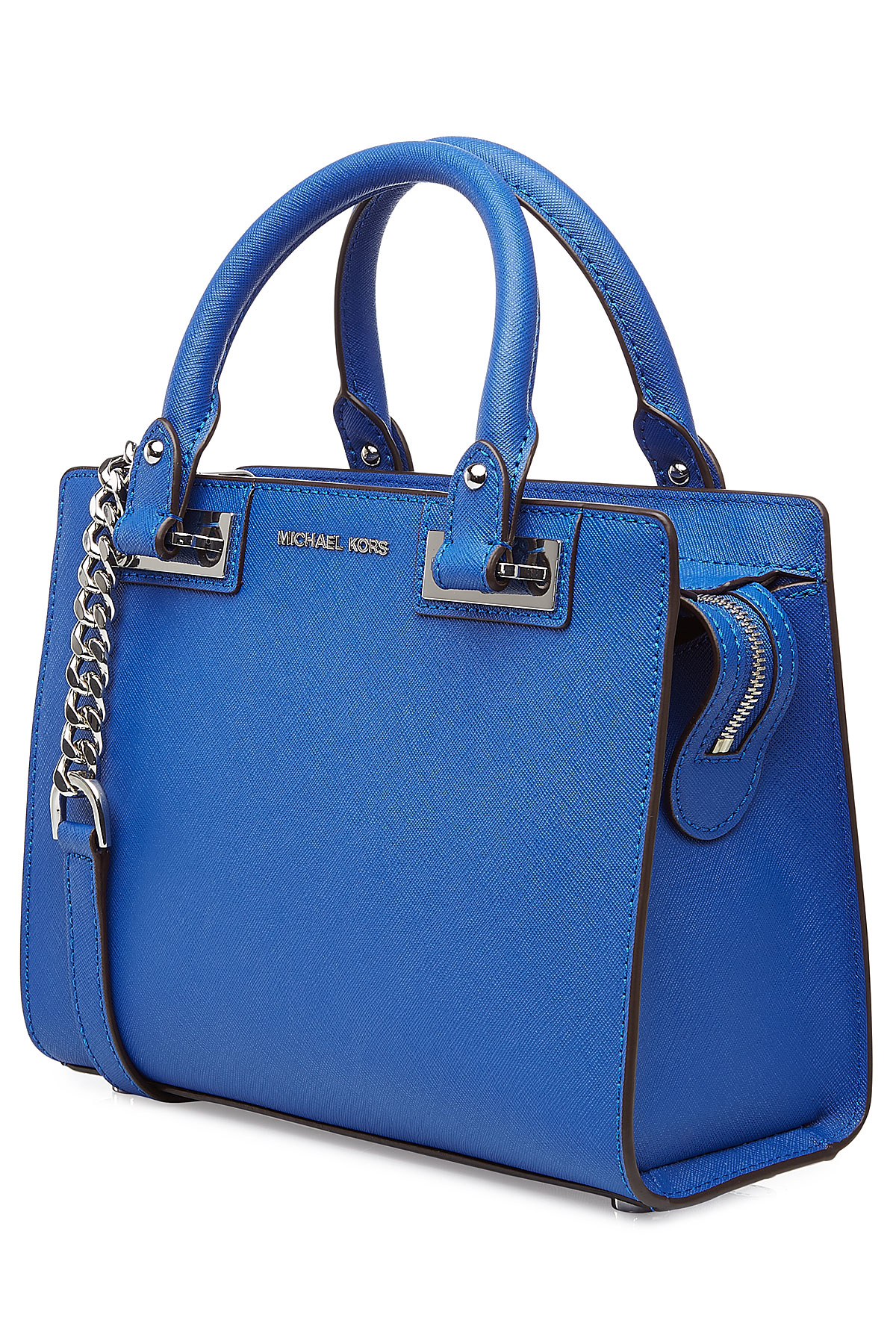 fe68d6812ea6df MICHAEL Michael Kors Quinn Small Leather Satchel - Blue in Blue - Lyst