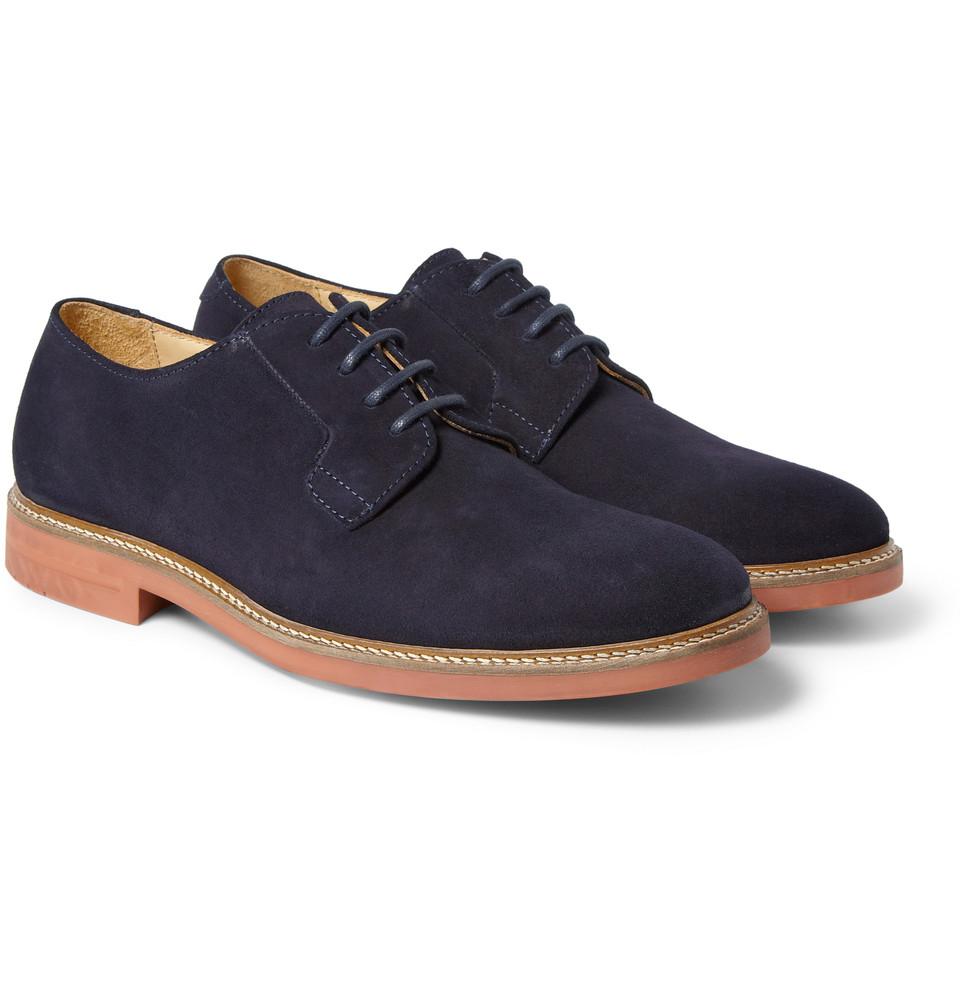Stylish Suede Shoes Derby Men