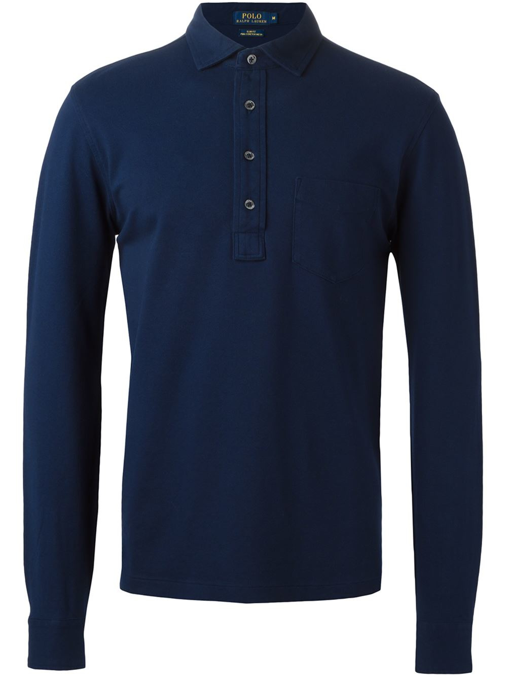 Polo Ralph Lauren Long Sleeve Polo Shirt In Blue For Men