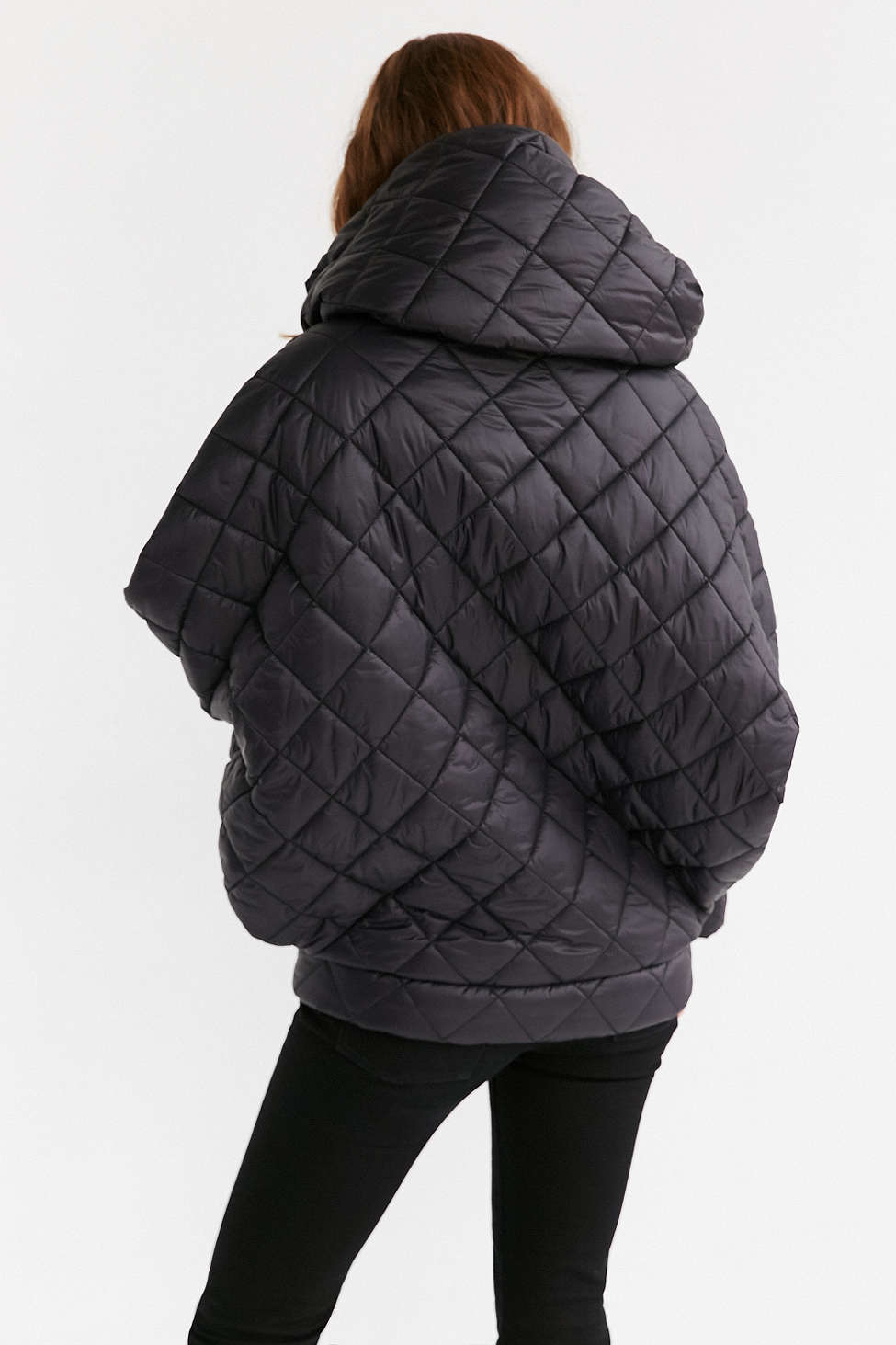Lyst Without Walls Oversized Cocoon Puffer Jacket In Black