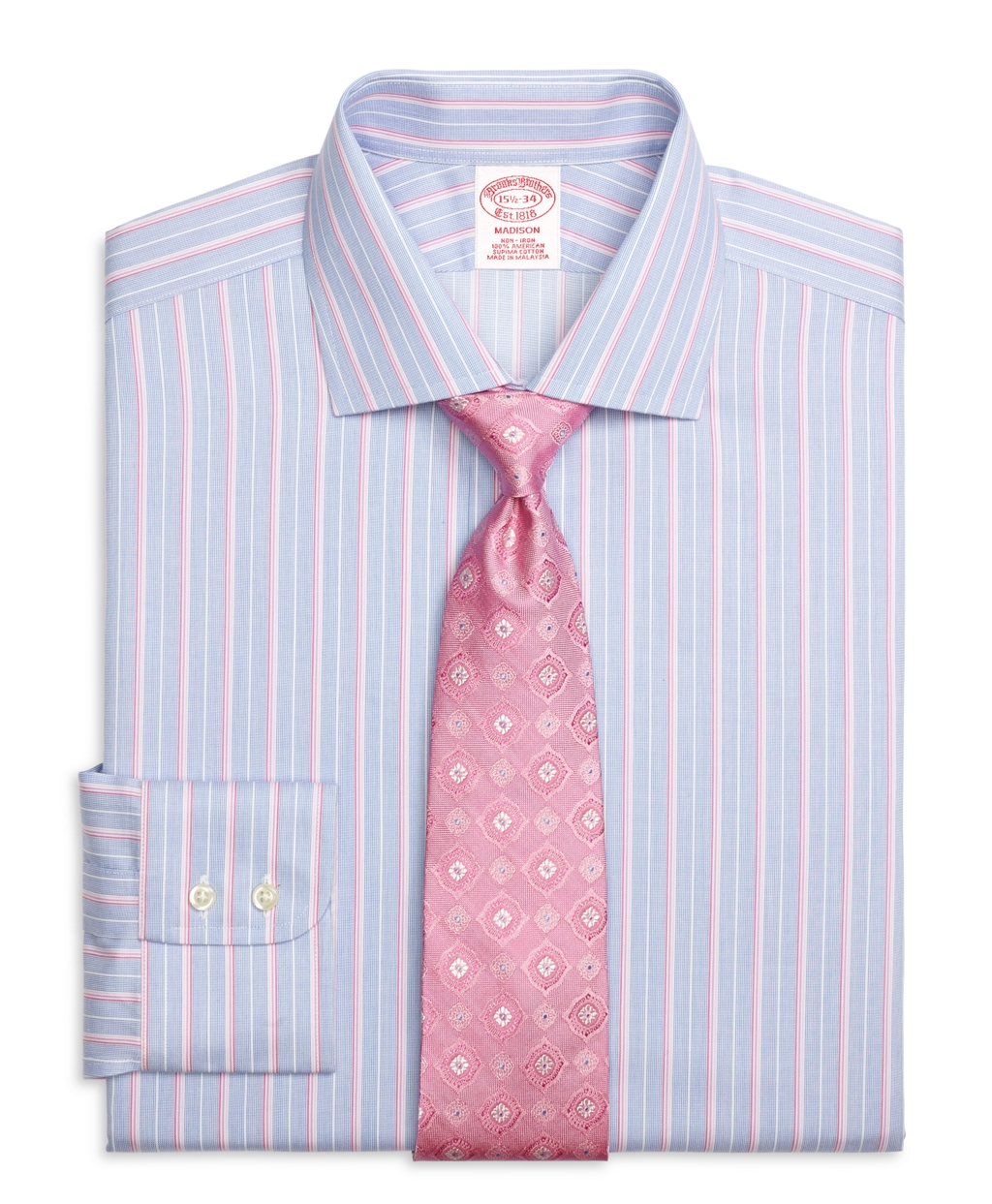 Brooks brothers non iron regent fit ombre stripe dress for Brooks brothers non iron shirts review