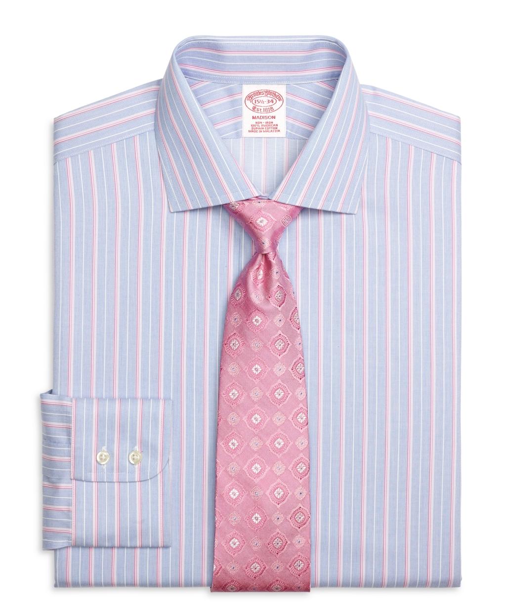 Brooks Brothers Non Iron Regent Fit Ombre Stripe Dress
