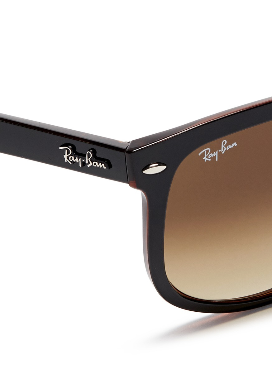 Lyst - Ray-Ban \'rb4147\' Large Square Frame Acetate Sunglasses in ...